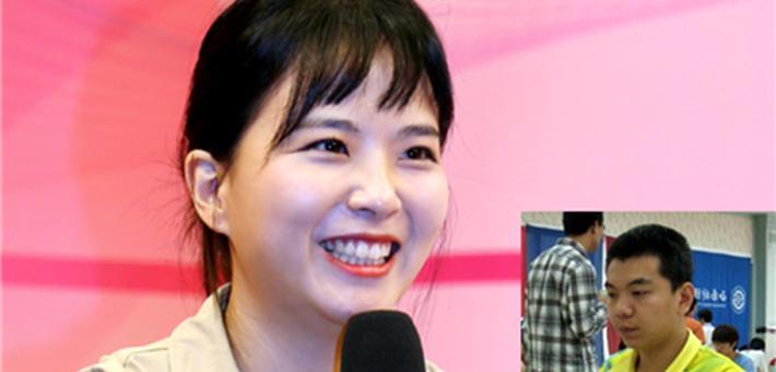 韩国美女棋手李瑟娥与中国棋手罗德隆