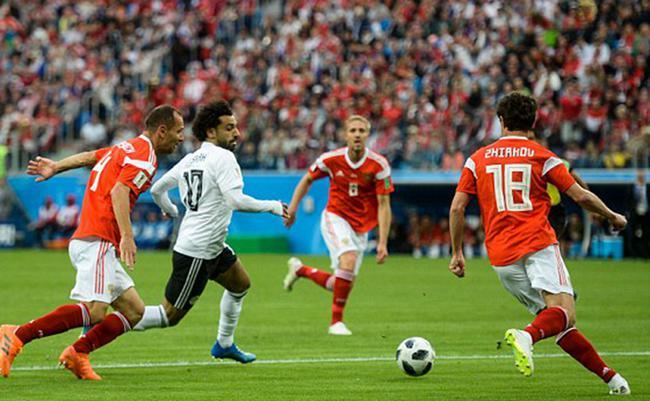 世界杯-两将连场破门 萨拉赫点射 俄罗斯3-1埃及