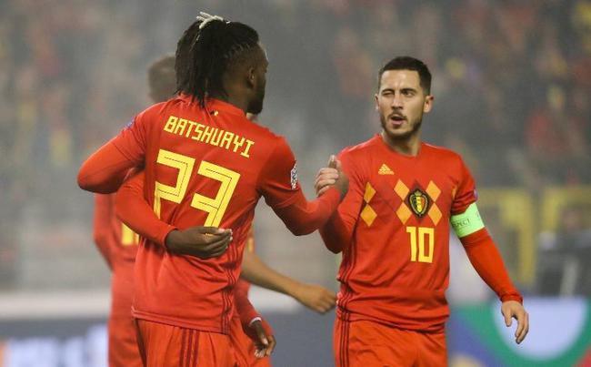 欧国联-切尔西外租射手2球+中柱 比利时2-0胜冰岛