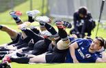 日本队散步备战世界杯