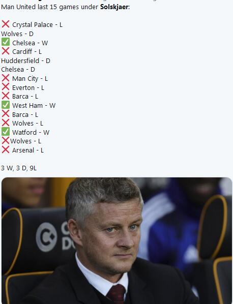 曼联近期成绩惨淡