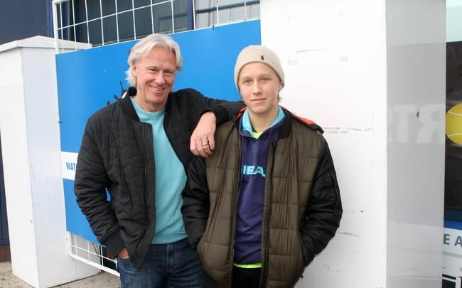 11届大满贯得主比约·博格与儿子里奥·博格。图/ATP官微