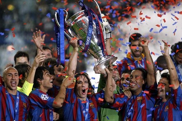 巴萨队史第二座欧冠