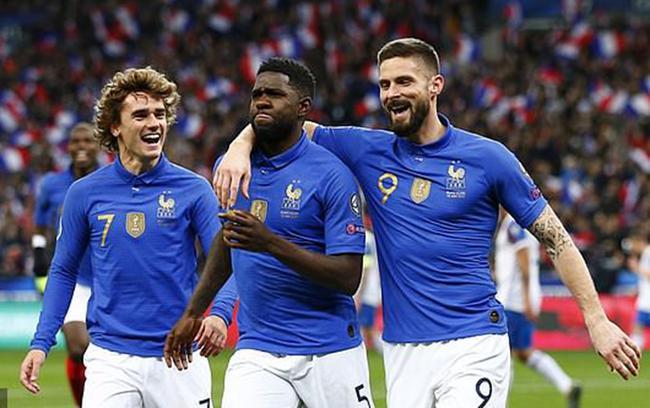 欧预赛-姆巴佩1球2助 格子传射 吉鲁破门 法国4-0