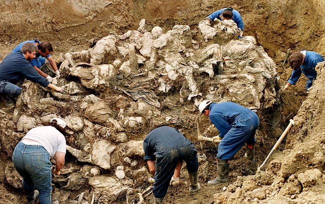 波黑的一个大型墓坑