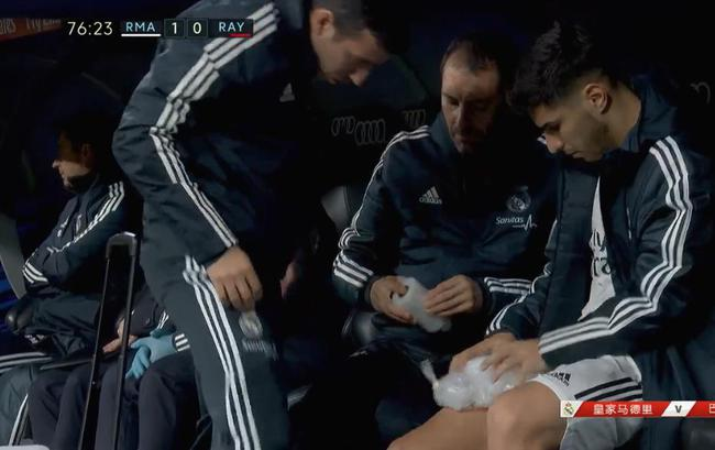阿森西奥疑似大腿受伤