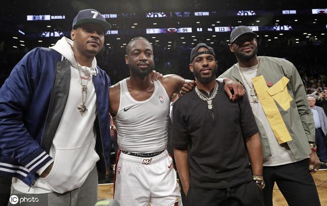 不愧是坐过香蕉船!詹韦盖楼庆贺安东尼重返NBA
