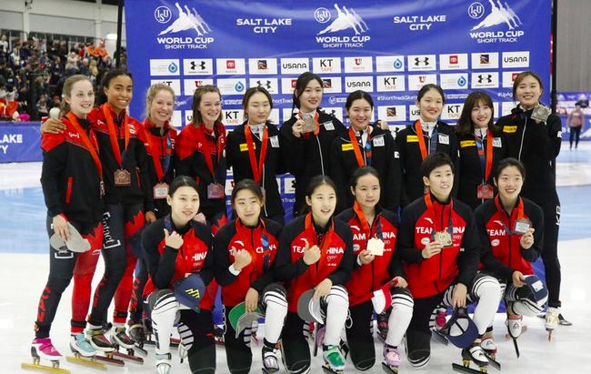 中国女队上一站获得接力金牌
