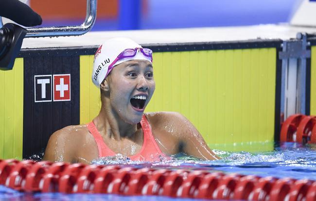 刘湘50自游出24秒25 可列该项今年好成绩榜第四
