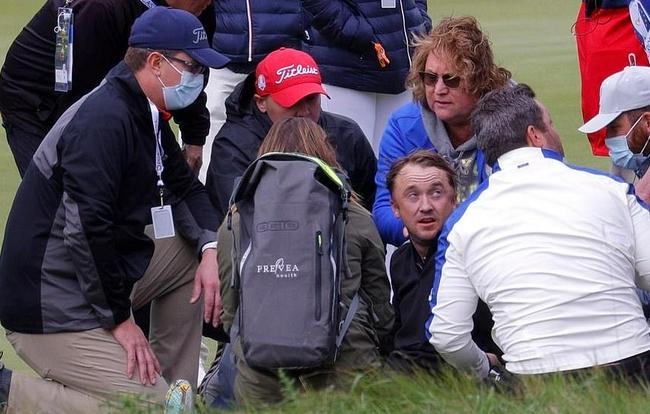 惊魂!《哈利波特》影星打高尔夫时突然倒地