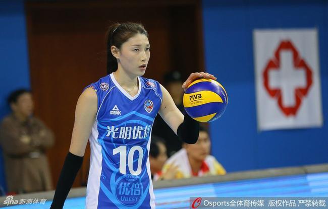 金软景本赛季成为了上海女排绝对的核心