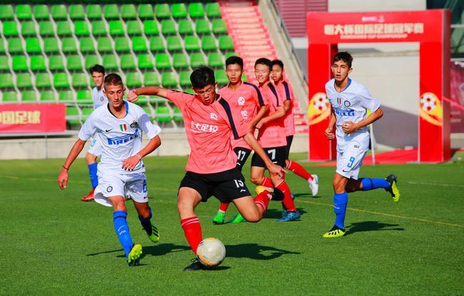 2018年8月,恒大西班牙分校03梯队与意大利国际米兰俱乐部梯队进行比赛