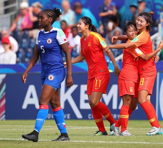 中国U20女足2-1击败海地