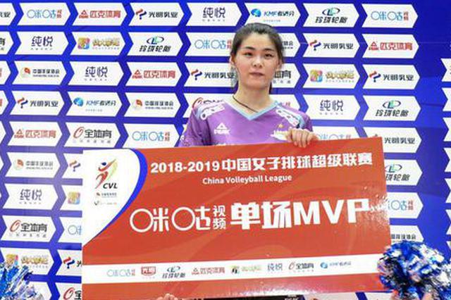 杜清清获本场MVP