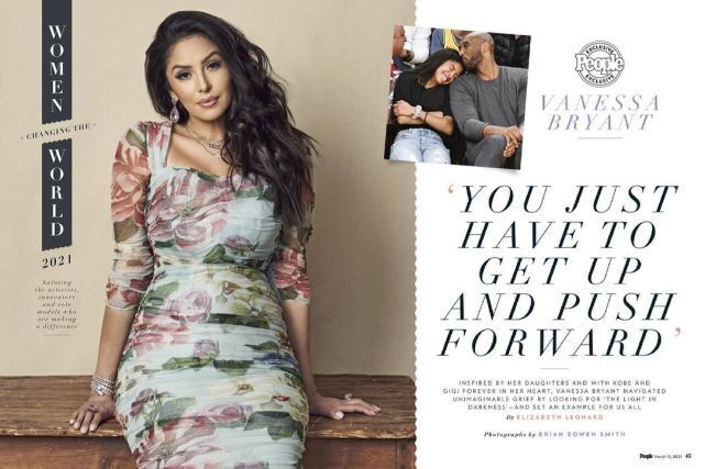 瓦妮莎登杂志封面:女性改变世界 女儿给我力量