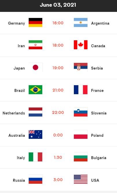 世界男排联赛3日赛程:日本vs塞尔维亚 美俄大战