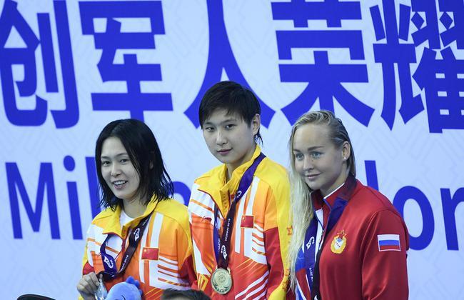 军运会游泳首日中国队席卷六金 破四项赛会纪录