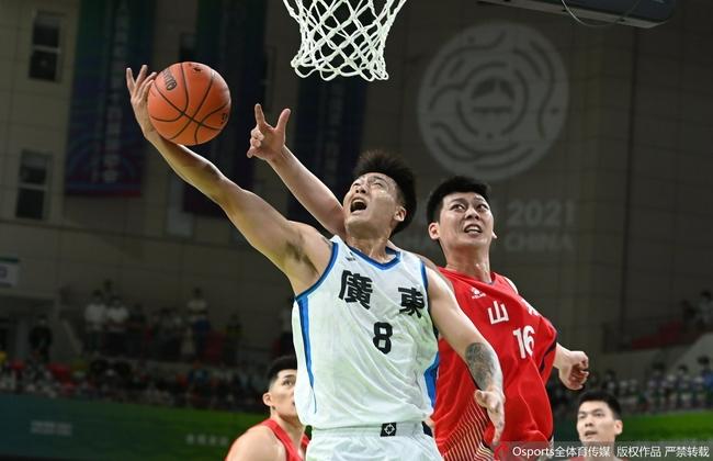 全运会男篮:胡明轩17分 赵睿14+5+4广东过关