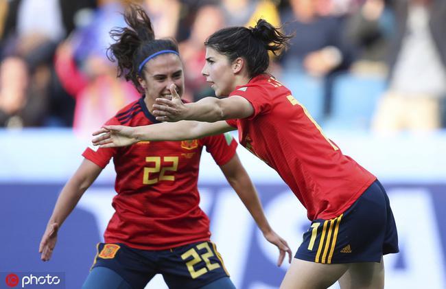 女足世界杯西班牙3比1南非 女超外援世界杯首球