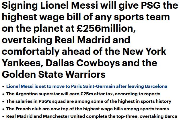 【博狗体育】巴黎为签梅西真拼了!看看他们付出的代价有多大