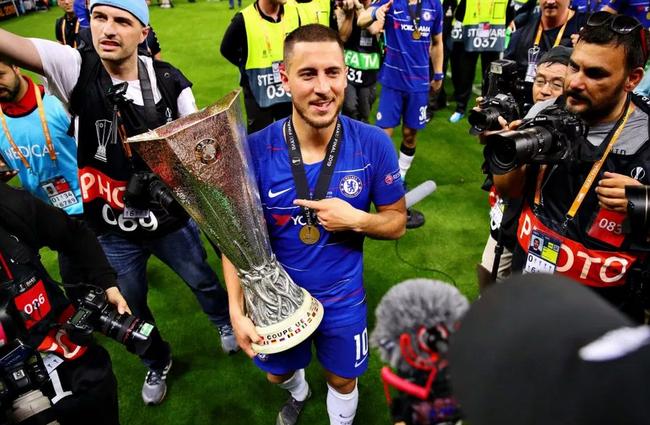 阿扎尔用欧联杯冠军告别