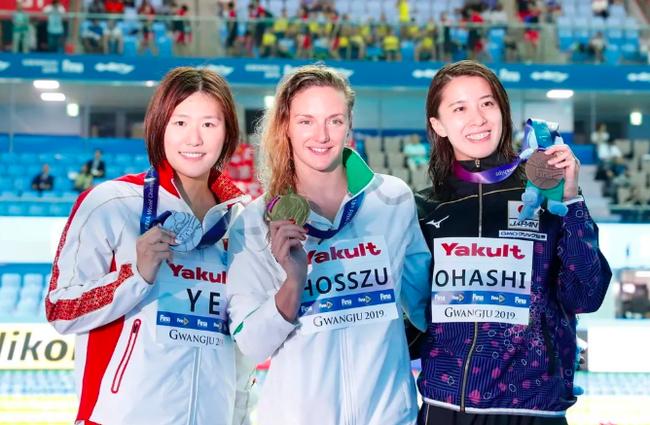 2019年光州游泳世锦赛女子200米混合泳决赛,叶诗文收获银牌
