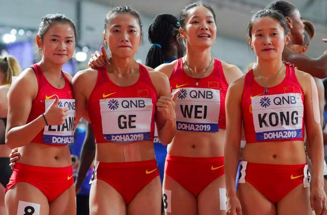 国际田联:中国女子4×100米接力