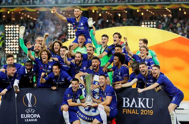 切尔西拿到了欧联杯冠军