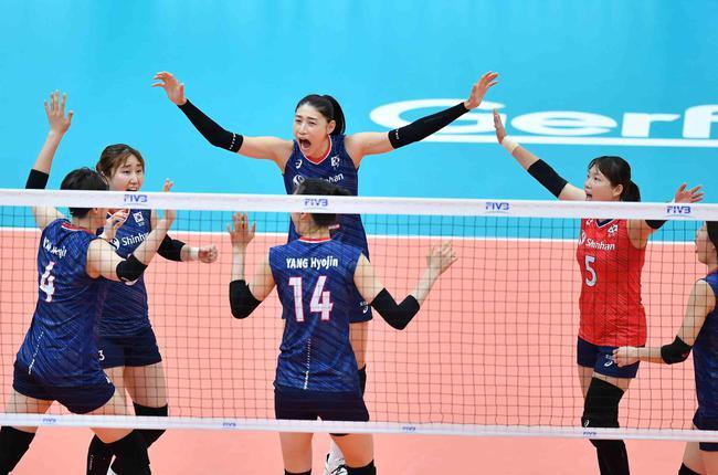 世界杯韩国女排3-1塞尔维亚 金熙珍金软景合砍40分