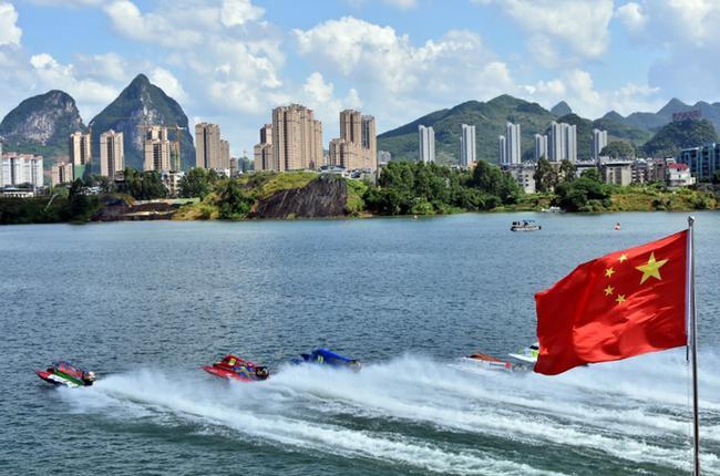 2017年F1摩托艇世錦賽中國大獎賽在柳州舉行,這是在柳州舉辦的第十站大獎賽