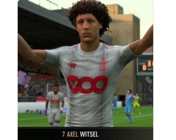 维特塞尔在FIFA19中的脸型