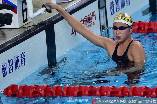 王简嘉禾打破女子1500米自由泳