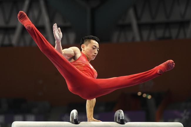全锦赛邹敬园鞍马夺冠 范忆琳高低杠第三度封后