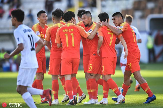 国足逆转战胜吉尔吉斯斯坦