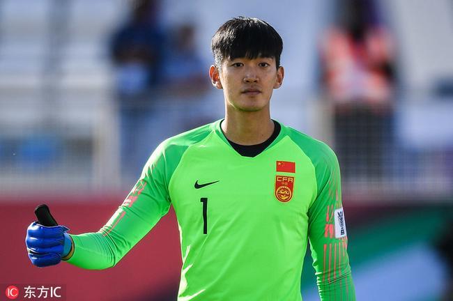 顏駿凌目前是國足主力門將