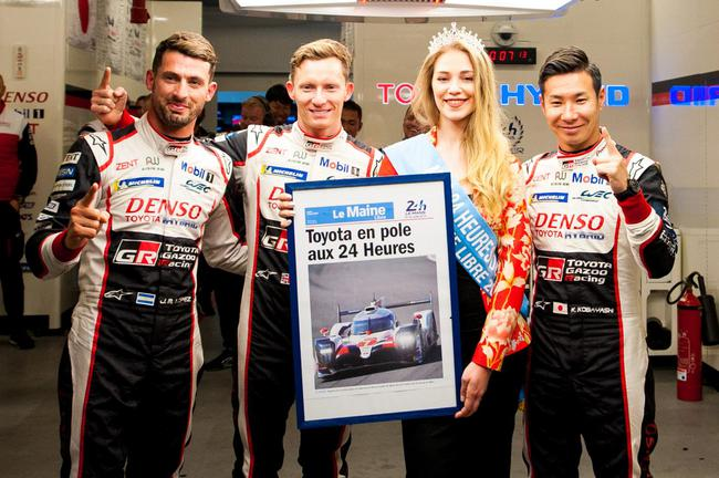 丰田车队7号赛车组夺得杆位