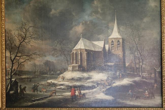 魔之粹�my�/9c!_照片8:教堂桥边的人们,安东尼比尔斯特拉顿,c. 1670
