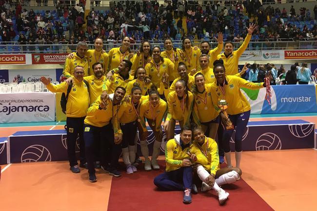巴西女排第21次拿到了北好洲锦标赛的冠军