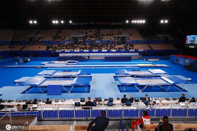 此次蹦床世锦赛的场地