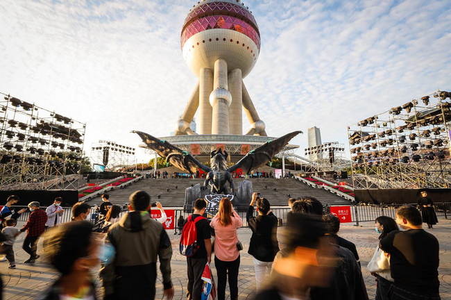 S10巨龙实体雕塑全球首秀?落地上海东方明珠塔