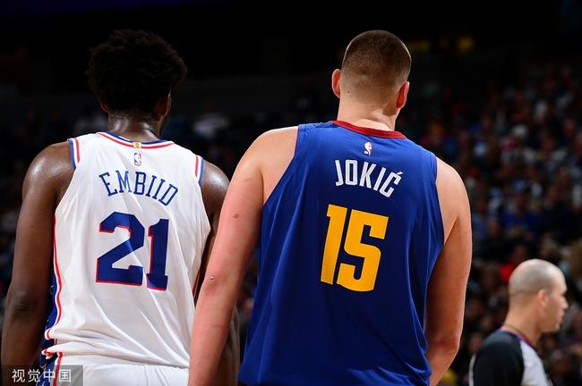 美媒评NBA现役10大中锋 约基奇力压大帝