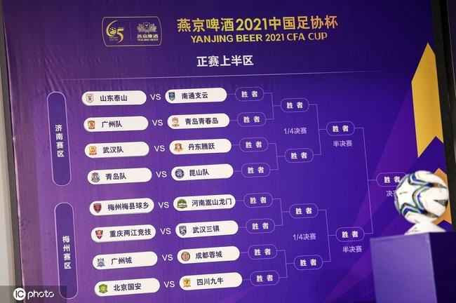 广东三强足协杯落位不同赛区 广州队难度最大
