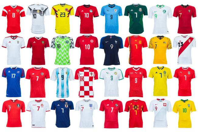 本届国际杯各队主场球衣