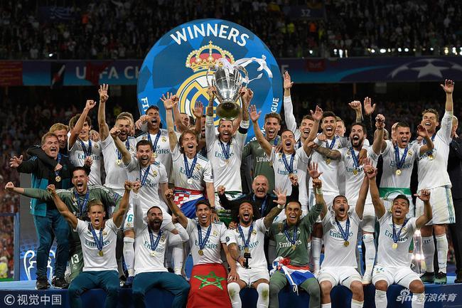 C罗与皇马一起赢得四座欧冠
