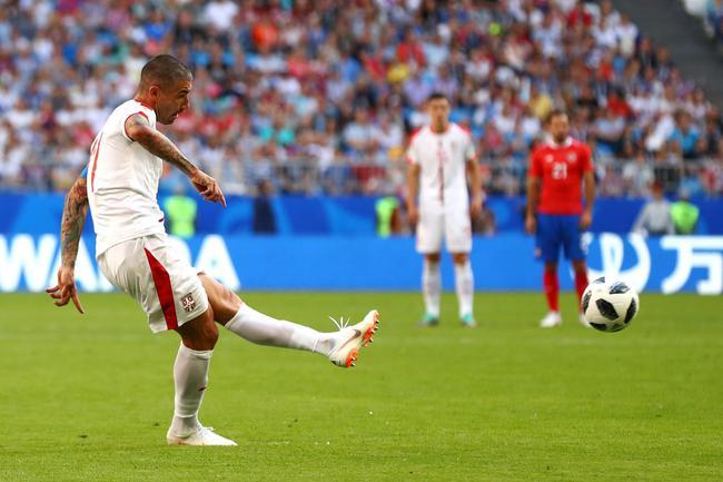 世界杯-队长任意球破门 塞尔维亚1-0胜哥斯达黎加
