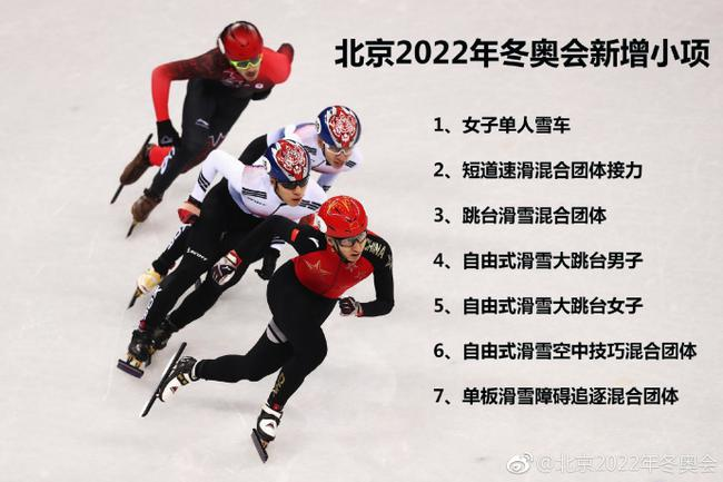 北京冬奥会新增7个比赛小项