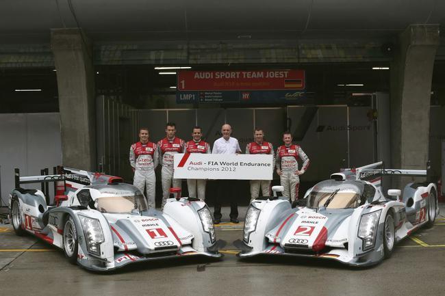 奥迪1号车构成功加冕该赛季的年度总冠军