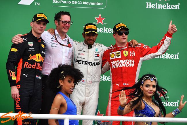 F1巴西站颁奖仪式