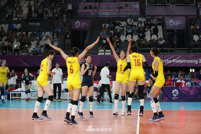 中国女排亚运会夺金