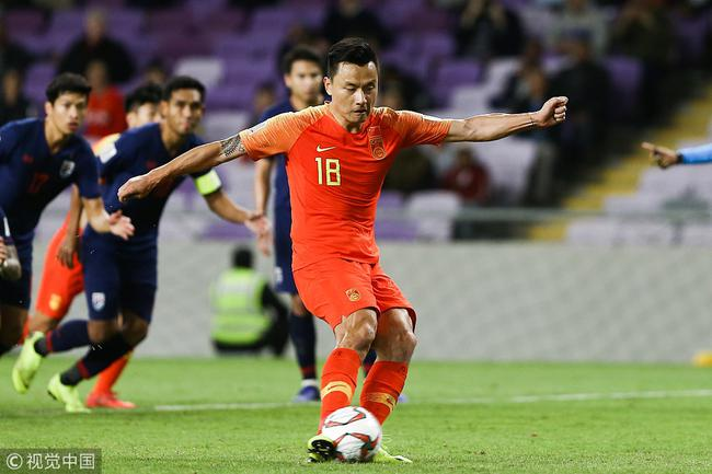 亚洲杯上国足逆转取胜泰国